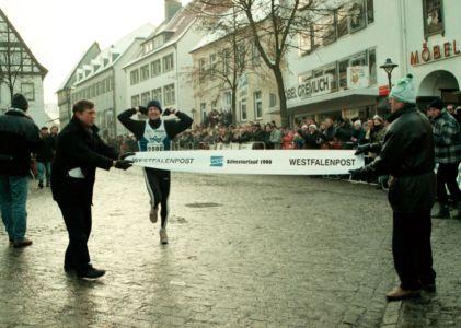 Zieleinlauf Des Siegers 1996