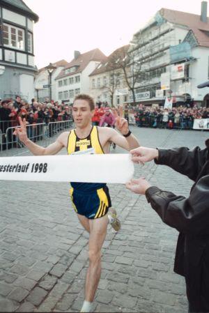 Sieger Beim Einlauf